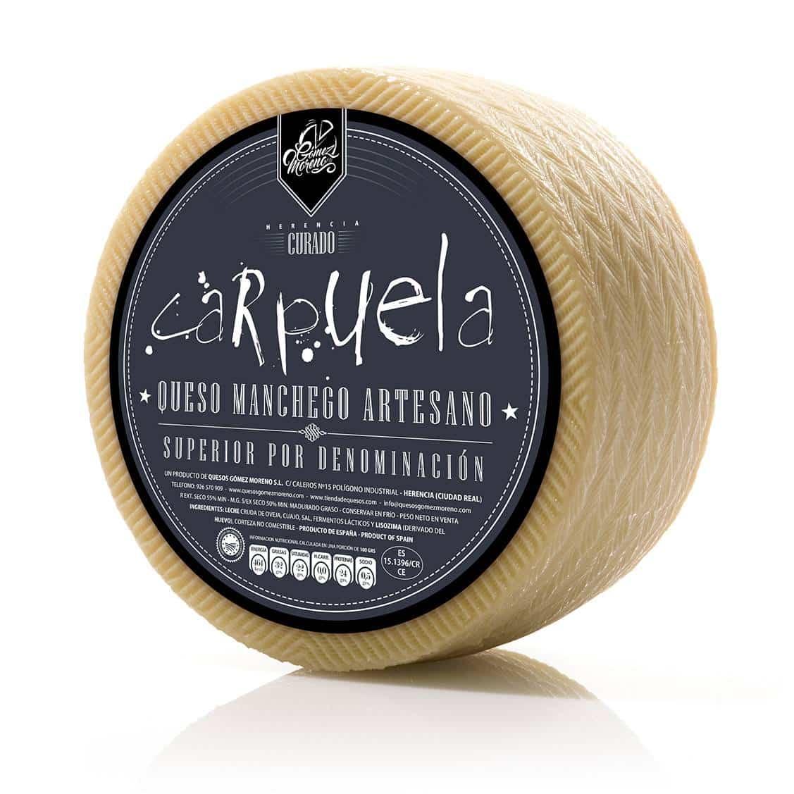 PRODUCTO GOMEZ MORENO 03 queso carpuela - Carpuela es elegido como el mejor queso manchego curado en Expovican 2018