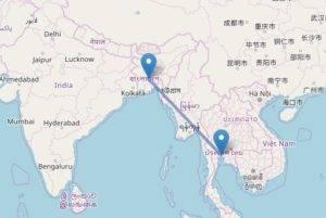 Perlé llegado a Dhaka vuela a Bangkok por su cumpleaños. 54