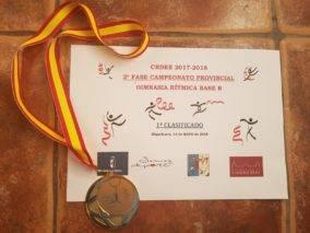 Segunda fase del campeonato regional de guimnasia ritmica Celia Mart%C3%ADn 284x213 - Celia Martín subcampeona regional alevín de gimnasia rítmica