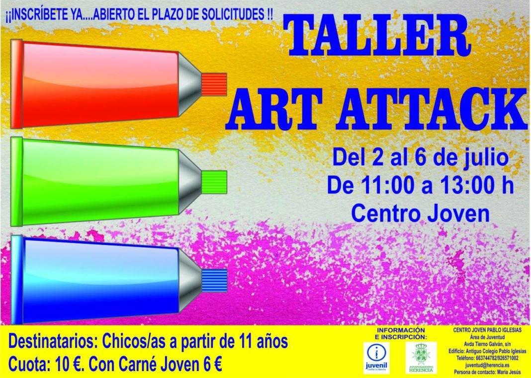 Abierta la inscripción para el taller Art Attack del área de Juventud 4