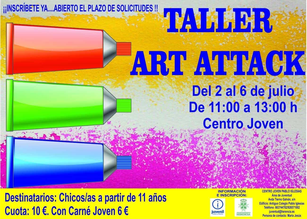 Taller Art Attack 1300x926 - Abierta la inscripción para el taller Art Attack del área de Juventud
