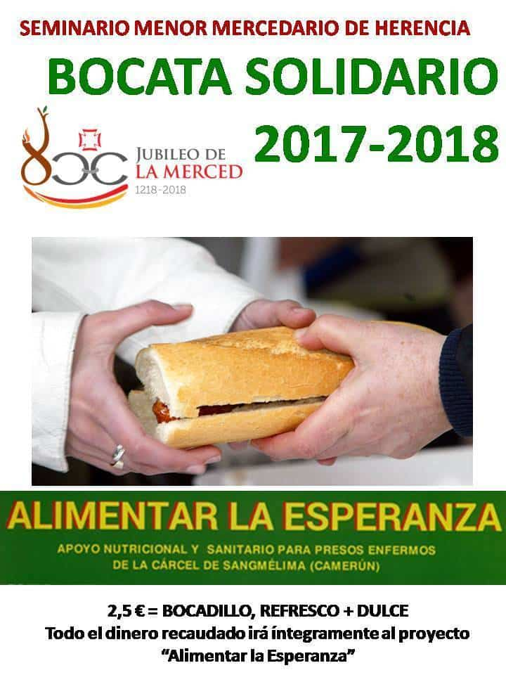 bocata solidario colegio seminario menor mercedario de herencia - Bocadillo solidario en el colegio seminario menor mercedario