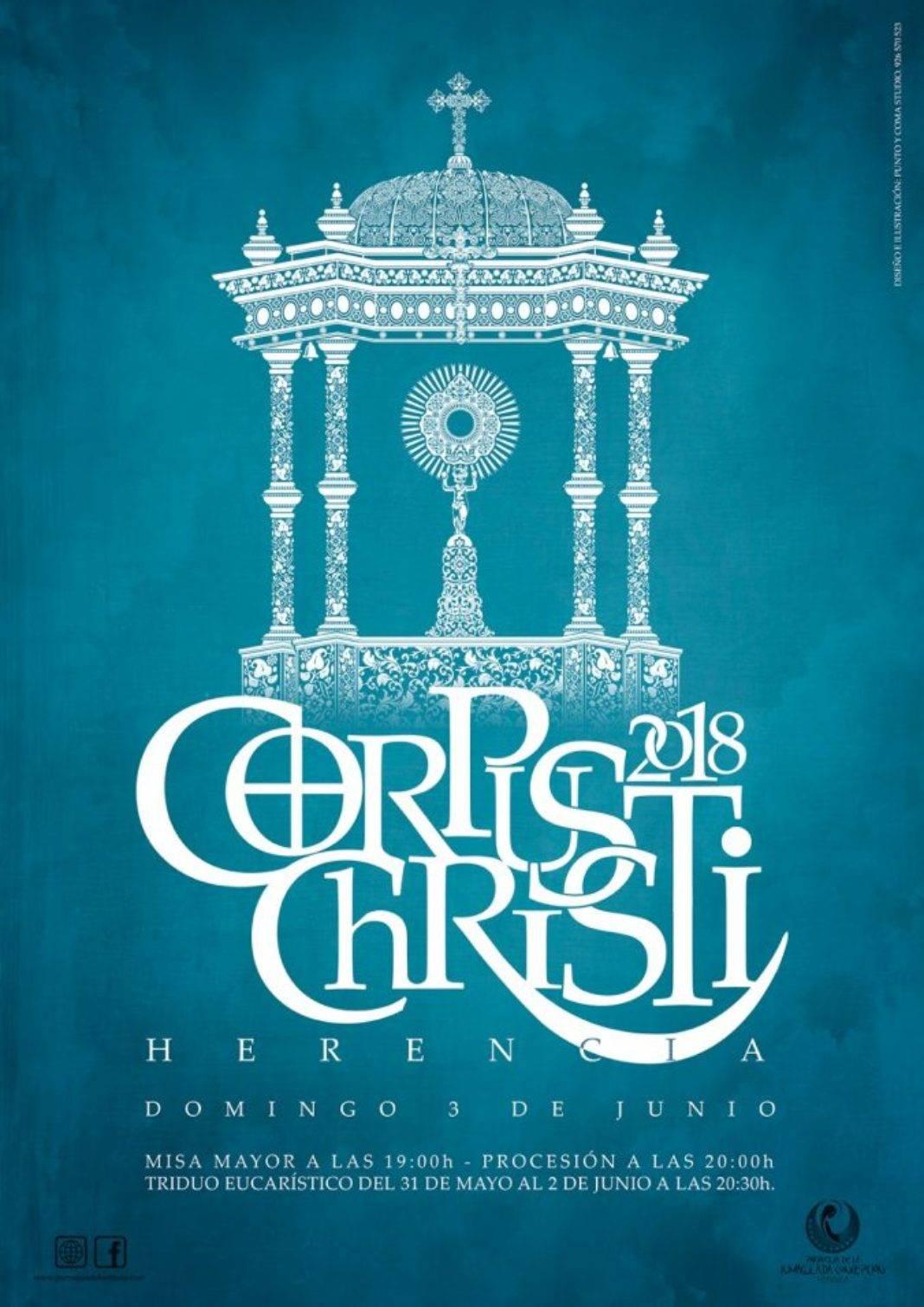 cartel corpus christi herencia 2018 1 1068x1509 - Herencia engalana sus calles para la festividad del Corpus Christi