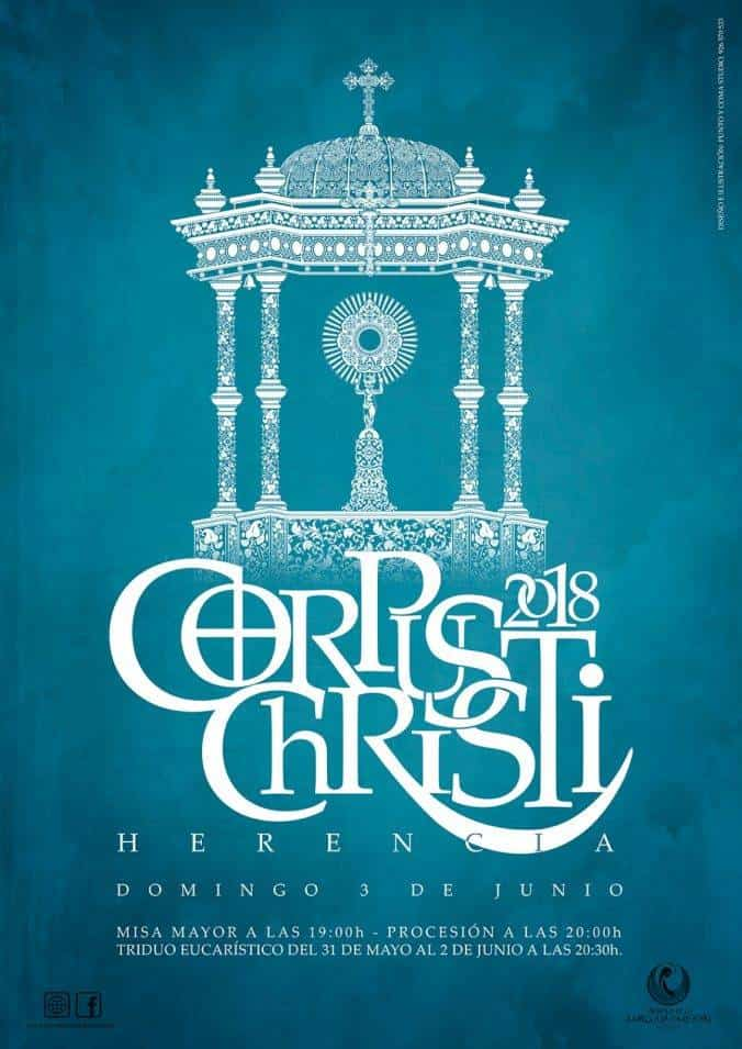cartel corpus christi herencia 2018 1 - Herencia engalana sus calles para la festividad del Corpus Christi