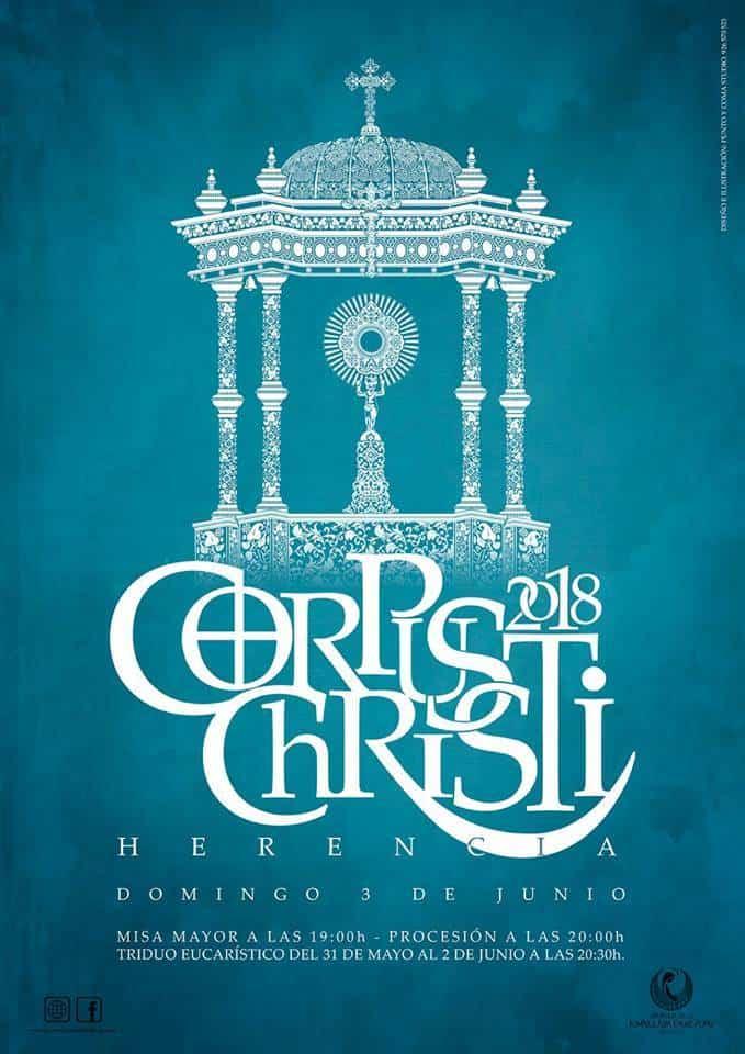 cartel corpus christi herencia 2018 - Herencia prepara la celebración del Corpus Christi 2018