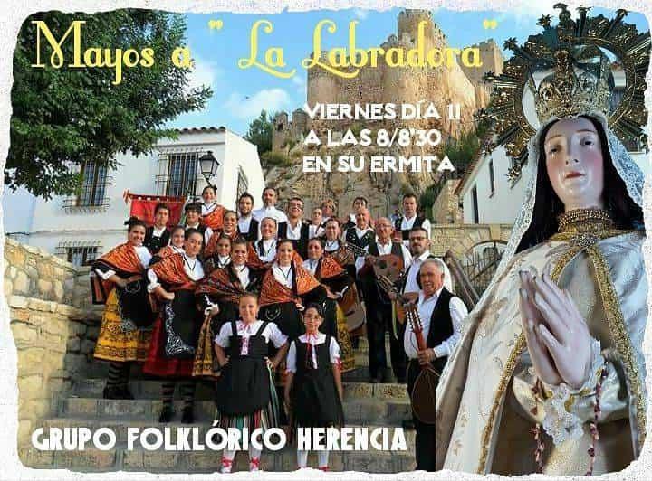 mayos grupo folclorico en La Labradora - Mayos en la ermita de la Labradora de Herencia