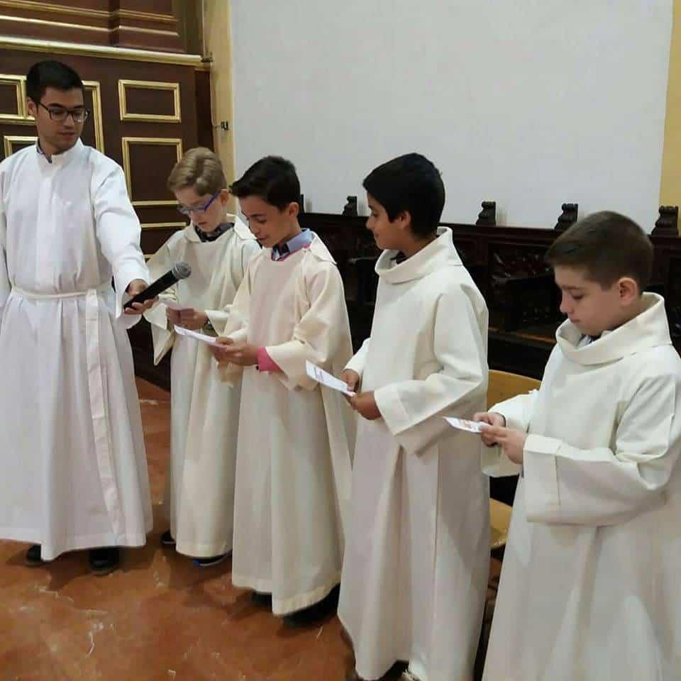 monaguillos parroquia de herencia - Institución de monaguillos en la parroquia de Herencia
