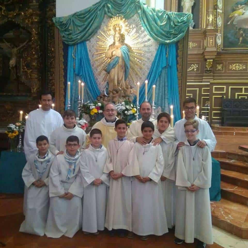 nuevos monaguillos de herencia - Institución de monaguillos en la parroquia de Herencia