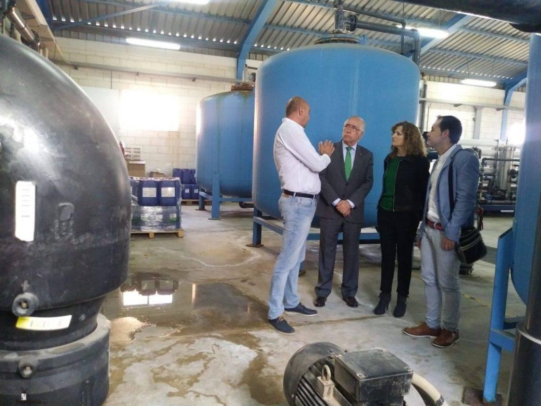 Visita de Pilar Cuevas a las obras de remodelación de los depósitos de agua potable 7