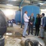 Visita de Pilar Cuevas a las obras de remodelación de los depósitos de agua potable 6