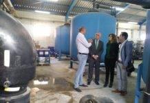 Visita de Pilar Cuevas a las obras de remodelación de los depósitos de agua potable