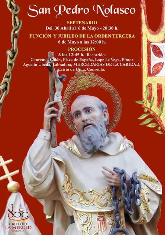 procesion de san pedro nolasco - La imagen de San Pedro Nolasco saldrá en procesión por primera vez