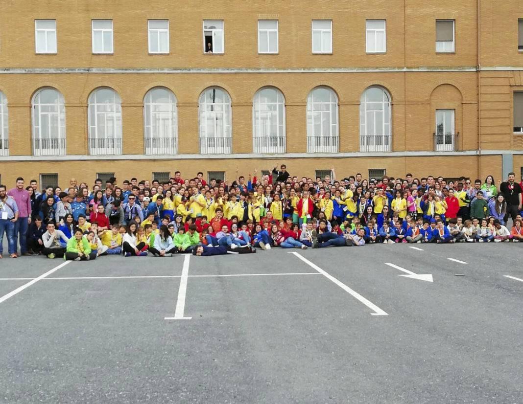 san jorge en el seminario de ciudad real 1068x826 - Scout de Herencia participaron de la festividad de San Jorge en el Seminario