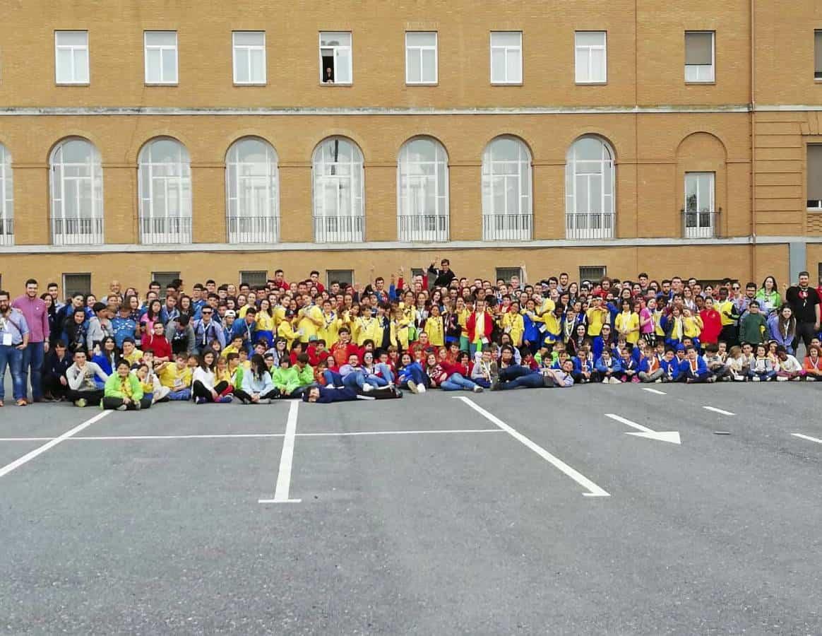Scout de Herencia participaron de la festividad de San Jorge en el Seminario 7