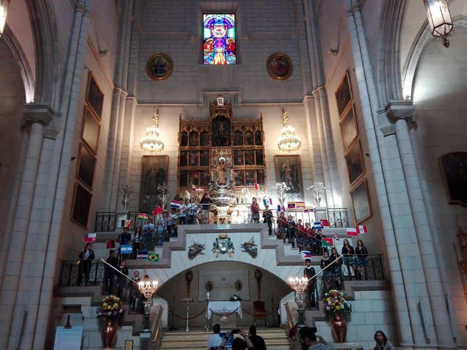 seminario menor mercedario de Herencia en la Almudena de Madrid2 - Herencia invitada a la misa por el VIII centenario de la Orden de la Merced en la archidiócesis de Madrid