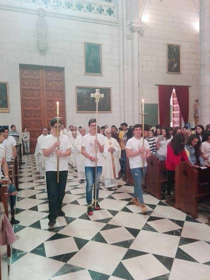 seminario menor mercedario de Herencia en la Almudena de Madrid3 - Herencia invitada a la misa por el VIII centenario de la Orden de la Merced en la archidiócesis de Madrid