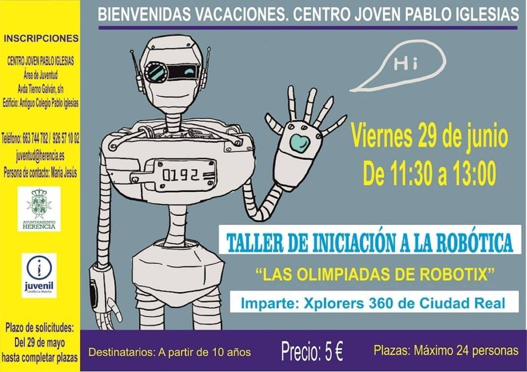 """taller iniciacion robotica herencia 1068x755 - Taller de iniciación a la robótica: """"Las olimpiadas de Robotix"""""""