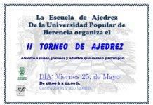 II Torneo de Ajedrez de la Escuela de Ajedrez de Herencia