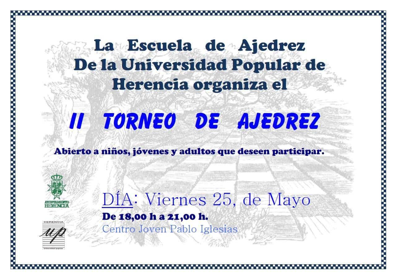 torneo ajedrez herencia - II Torneo de Ajedrez de la Escuela de Ajedrez de Herencia