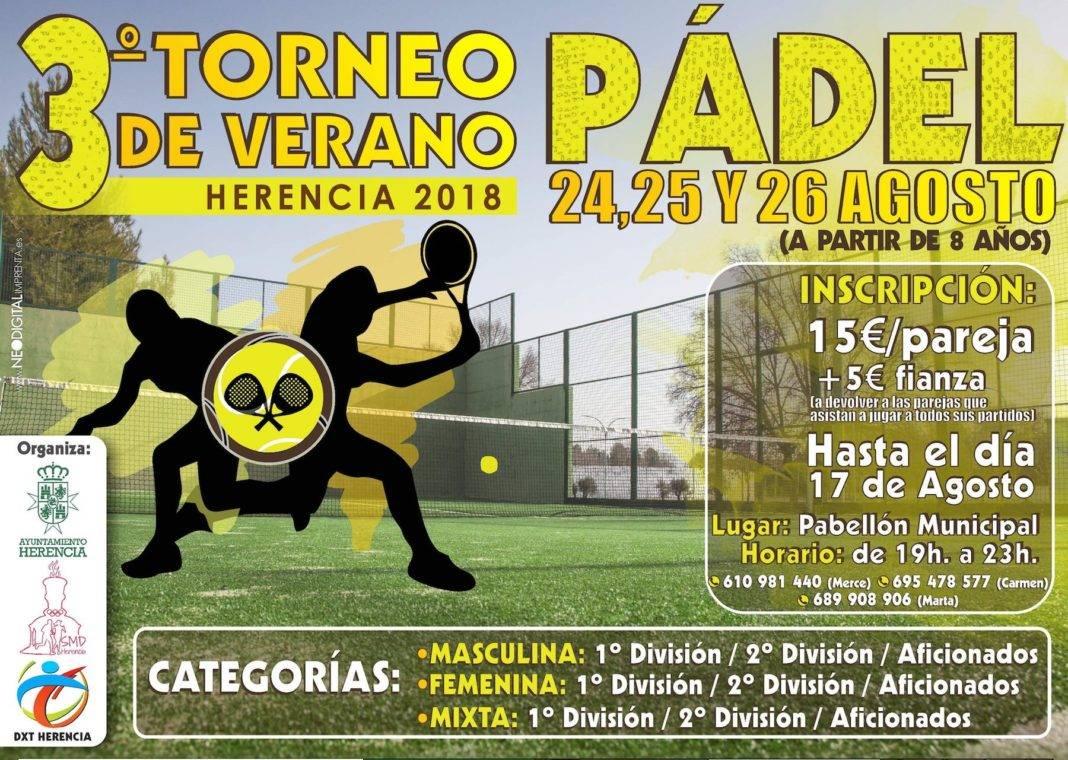 3 torneo de padel verano herencia 1068x760 - Tercer Torneo de Pádel de Verano 2018 en Herencia