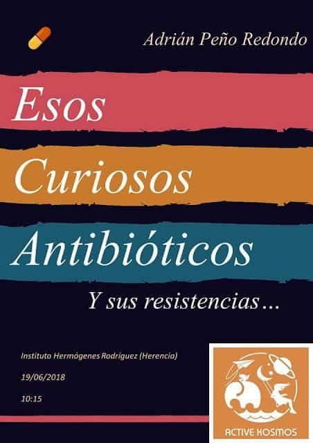 ADRIÁN PEÑO RESISTENCIA A LOS ANTIBIÓTICOS - Charla sobre los antibióticos en el IES Hermógenes Rodríguez