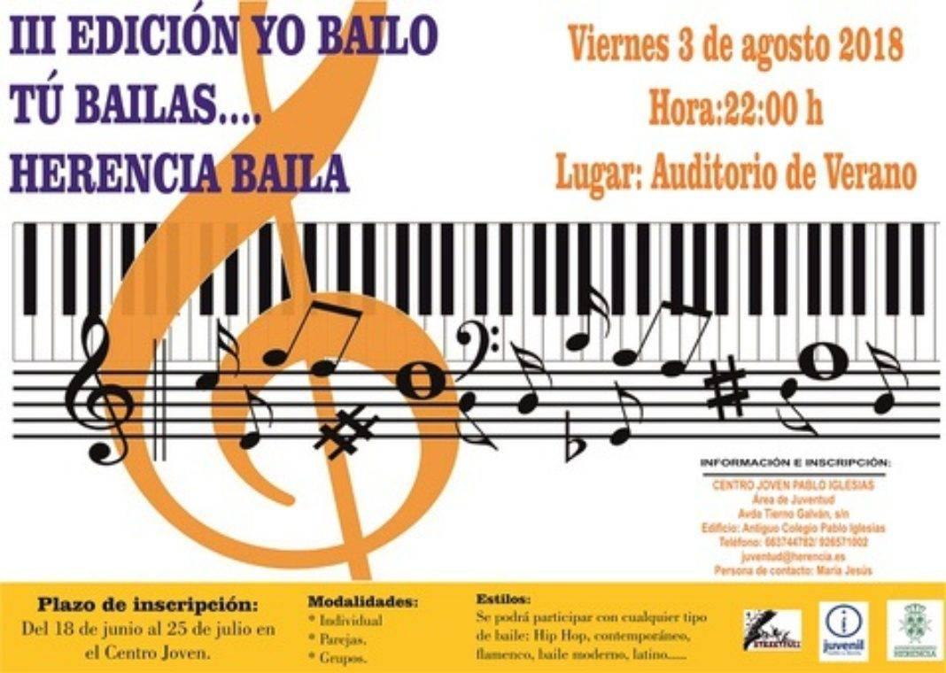 """Cartel III Edición Yo bailo tú bailas2 1068x760 - Inscripciones para el tercer encuentro """"Yo bailo, tú bailas… Herencia baila"""""""
