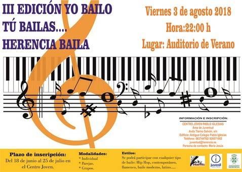 """Cartel III Edición Yo bailo tú bailas2 - Inscripciones para el tercer encuentro """"Yo bailo, tú bailas… Herencia baila"""""""