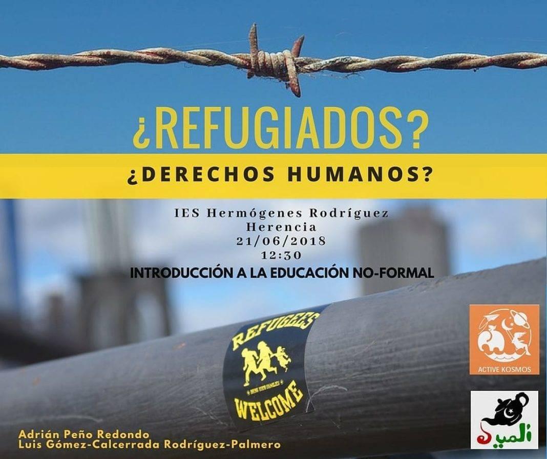 Charla sobre refugiados en el IES Hermógenes Rodríguez 1068x895 - Active Kosmos, El Uali y el IES Hermógenes Rodríguez con los refugiados