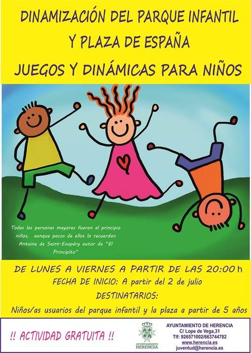 Vuelve el Programa de Dinamización del Parque Infantil y la Plaza de España 3