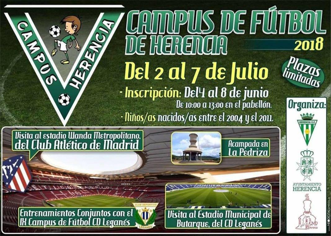 Inscripciones para el campus de futbol de Herencia 1068x760 - Inscripciones abiertas para el V Campus de Fútbol de Herencia