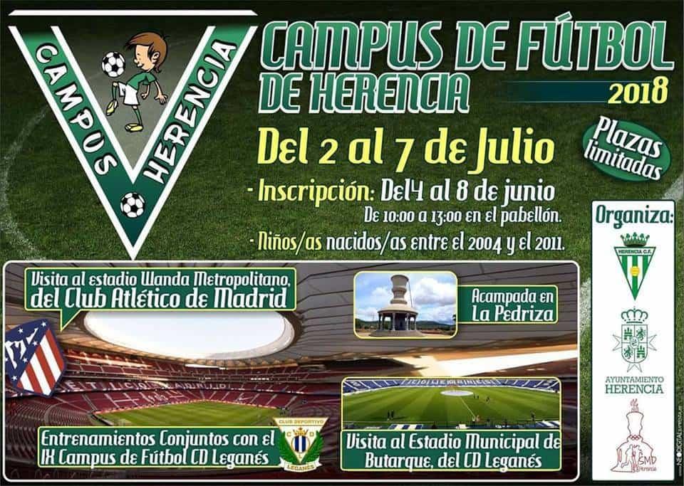 Inscripciones para el campus de futbol de Herencia - Inscripciones abiertas para el V Campus de Fútbol de Herencia