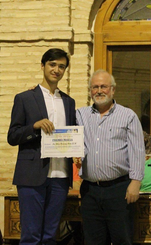 José María Fernández-Baillo logra el premio MAESA 2018 al mérito académico 3