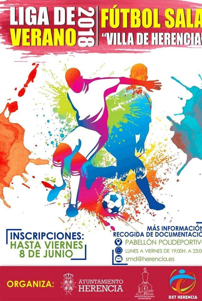 Liga de fútbol sala de verano 2018 en Herencia - Inscripciones abiertas: Liga de verano 2018 de fútbol sala