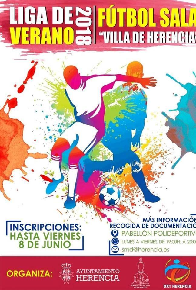 Liga de f%C3%BAtbol sala de verano 2018 en Herencia - Inscripciones abiertas: Liga de verano 2018 de fútbol sala