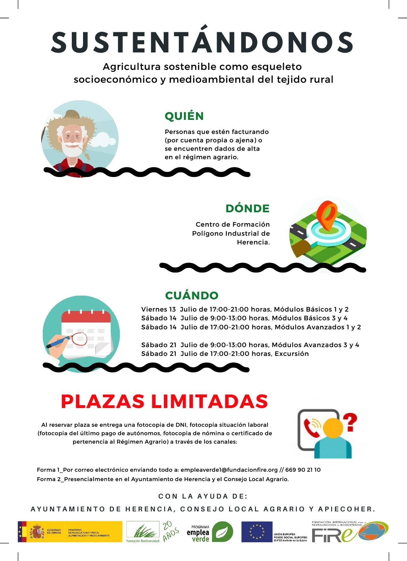 Cursos gratuitos sobre agricultura sostenible en Herencia 8