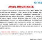 aviso importante emaser 13 junio 2018 150x150 - Aviso importante de EMASER por cortes de agua los días 12 y 13 de junio