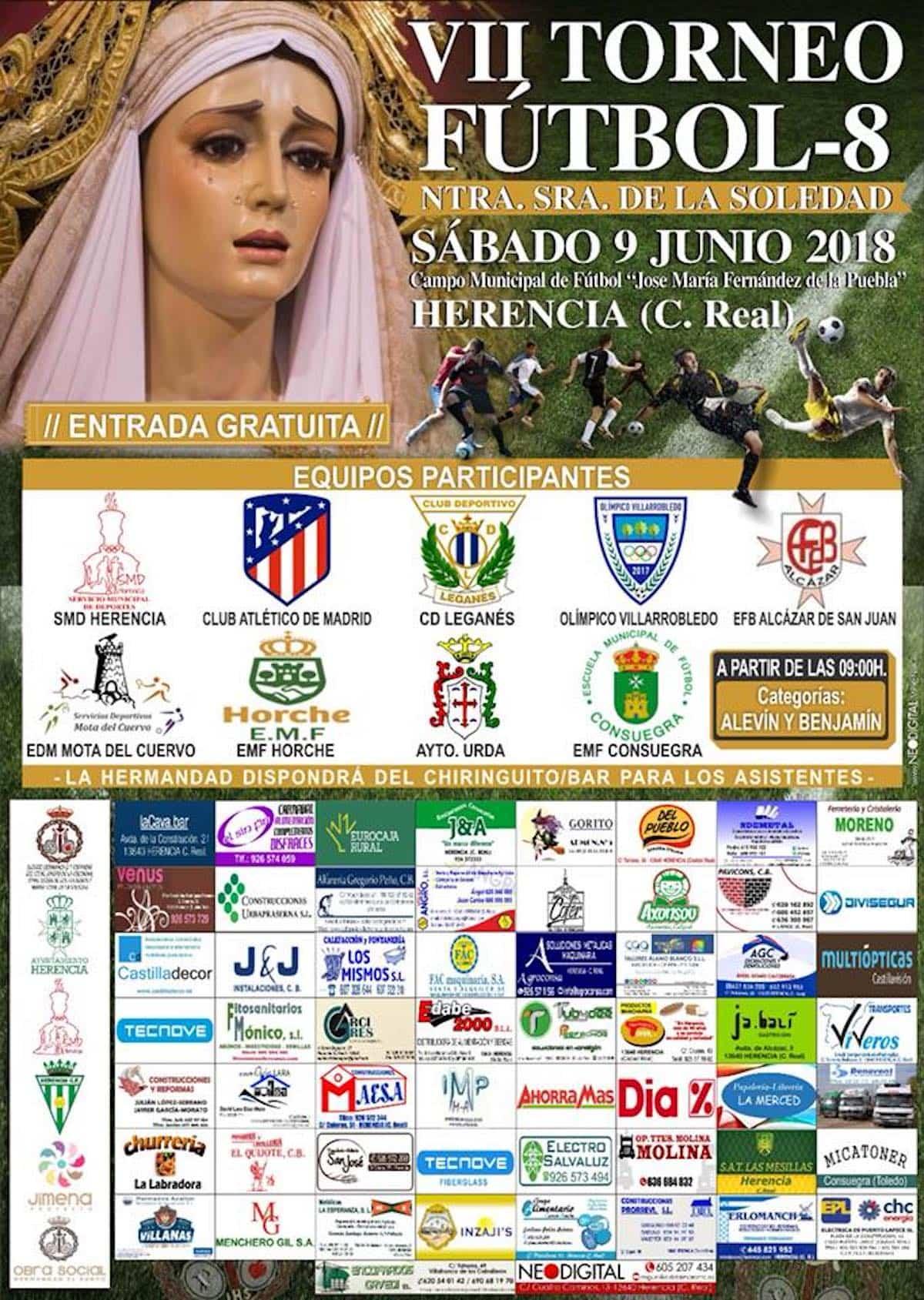 """cartel VII torneo futbol 8 herencia - Todo listo para el VII Torneo de Fútbol 8 """"Nuestra Señora de la Soledad"""""""