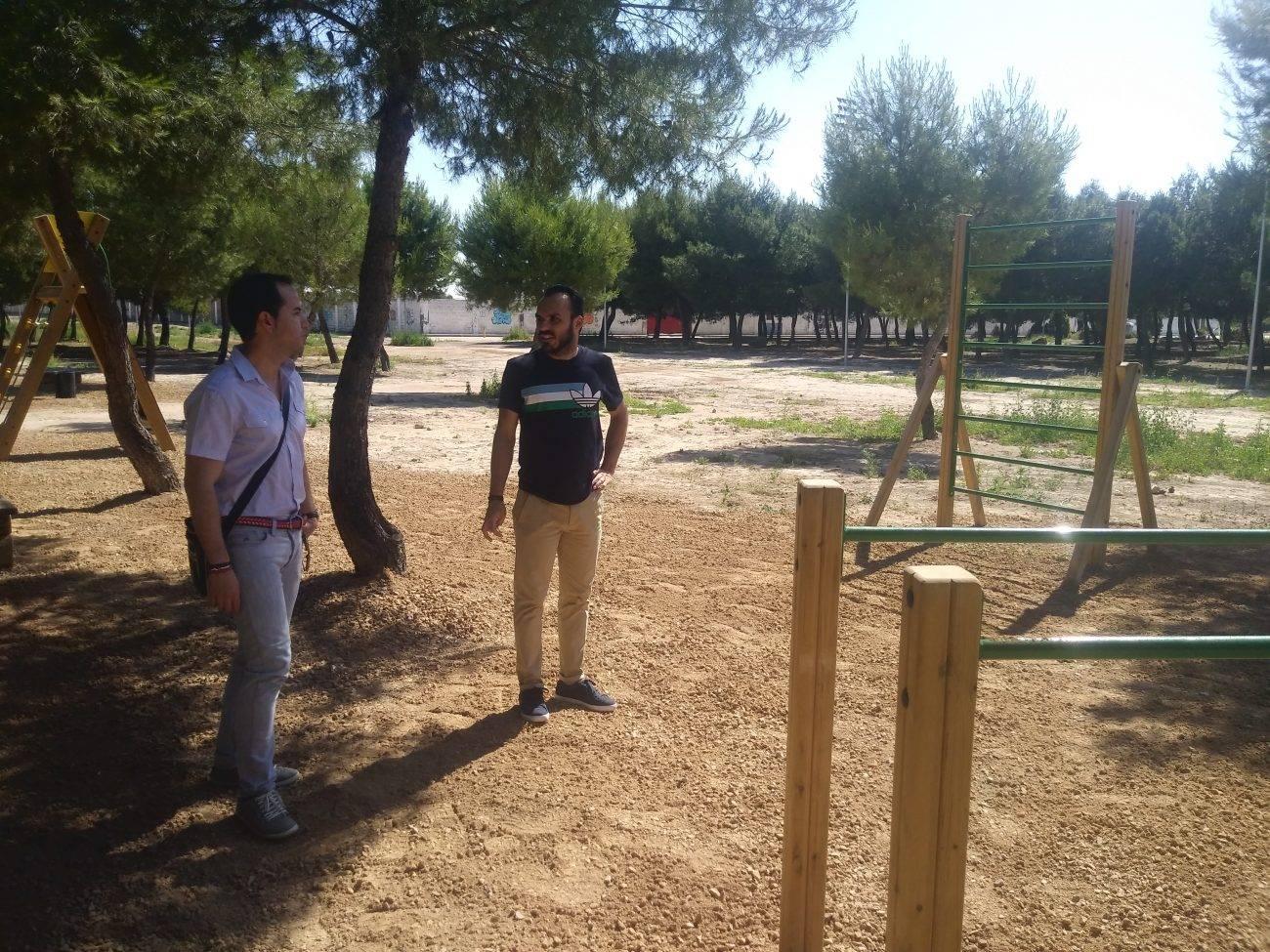 circuito de gimnasia en el parque de la serna2 - Instalado un circuito de gimnasia en el parque de la Serna