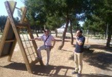 Instalado un circuito de gimnasia en el parque de la Serna