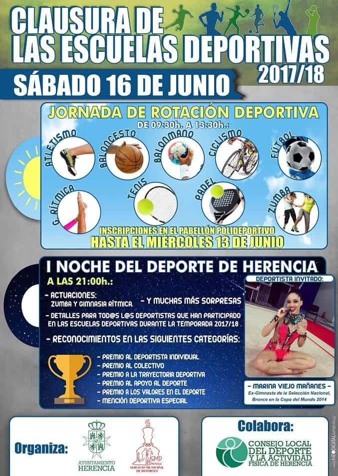 clausura escuelas deportivas de Herencia - Fiesta de clausura de las Escuelas Deportivas de Herencia 2017/2018