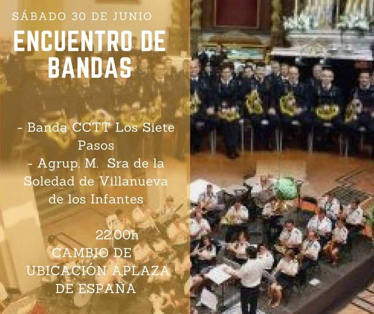 encuentro bandas junio 2018 - Encuentro de bandas de Herencia tendrá lugar en la Plaza de España