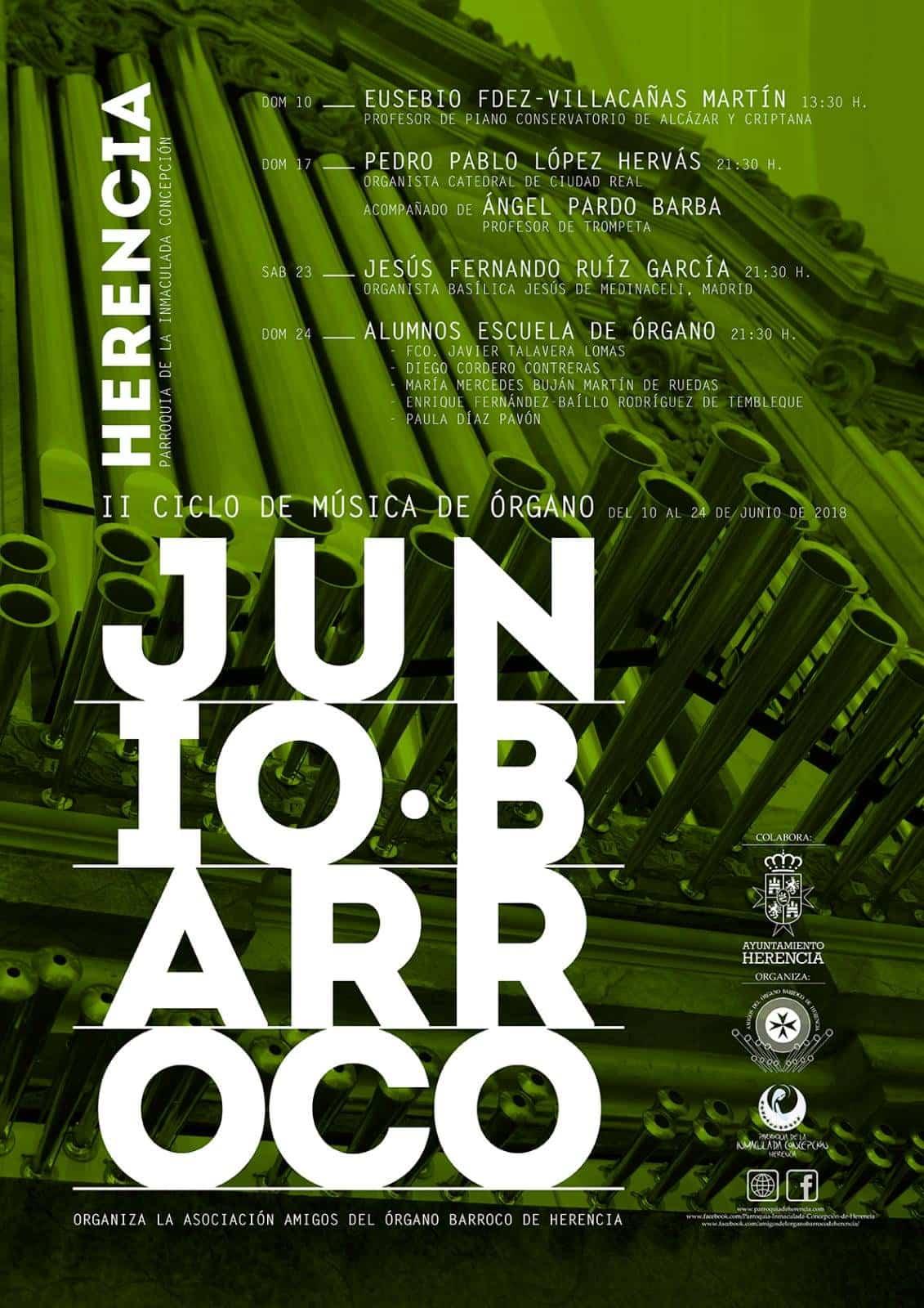 """junio barroco herencia 2 - Continúan los conciertos de órgano del II ciclo de música """"Junio Barroco"""""""