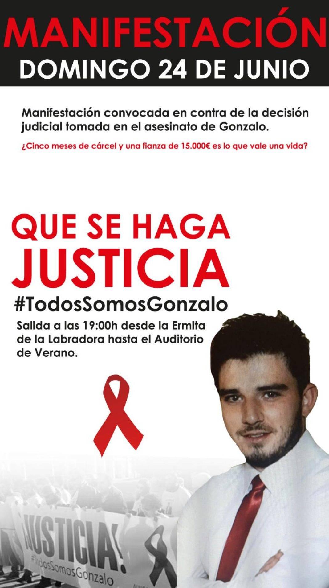 manifestacion 24 junio gonzalo herencia 1068x1907 - Herencia volverá a manifestarse reclamando justicia tras la muerte de Gonzalo Buján