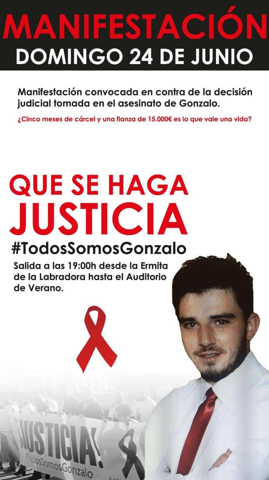 manifestacion 24 junio gonzalo herencia - Herencia volverá a manifestarse reclamando justicia tras la muerte de Gonzalo Buján