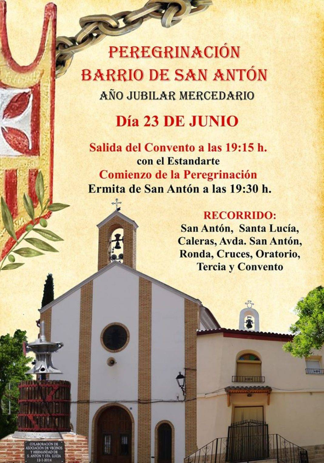 Peregrinación jubilar mercedaria del barrio de San Antón 4