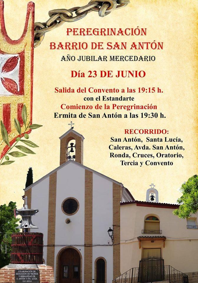 peregrinación mercedaria barrio de san Anton - Peregrinación jubilar mercedaria del barrio de San Antón