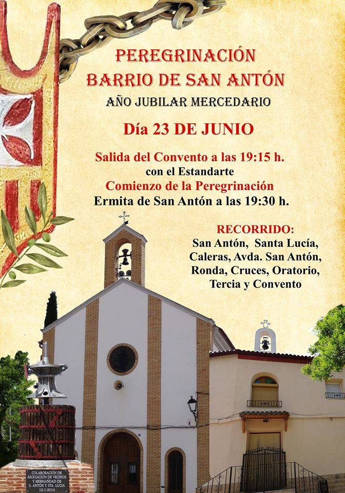 peregrinaci%C3%B3n mercedaria barrio de san Anton - Peregrinación jubilar mercedaria del barrio de San Antón