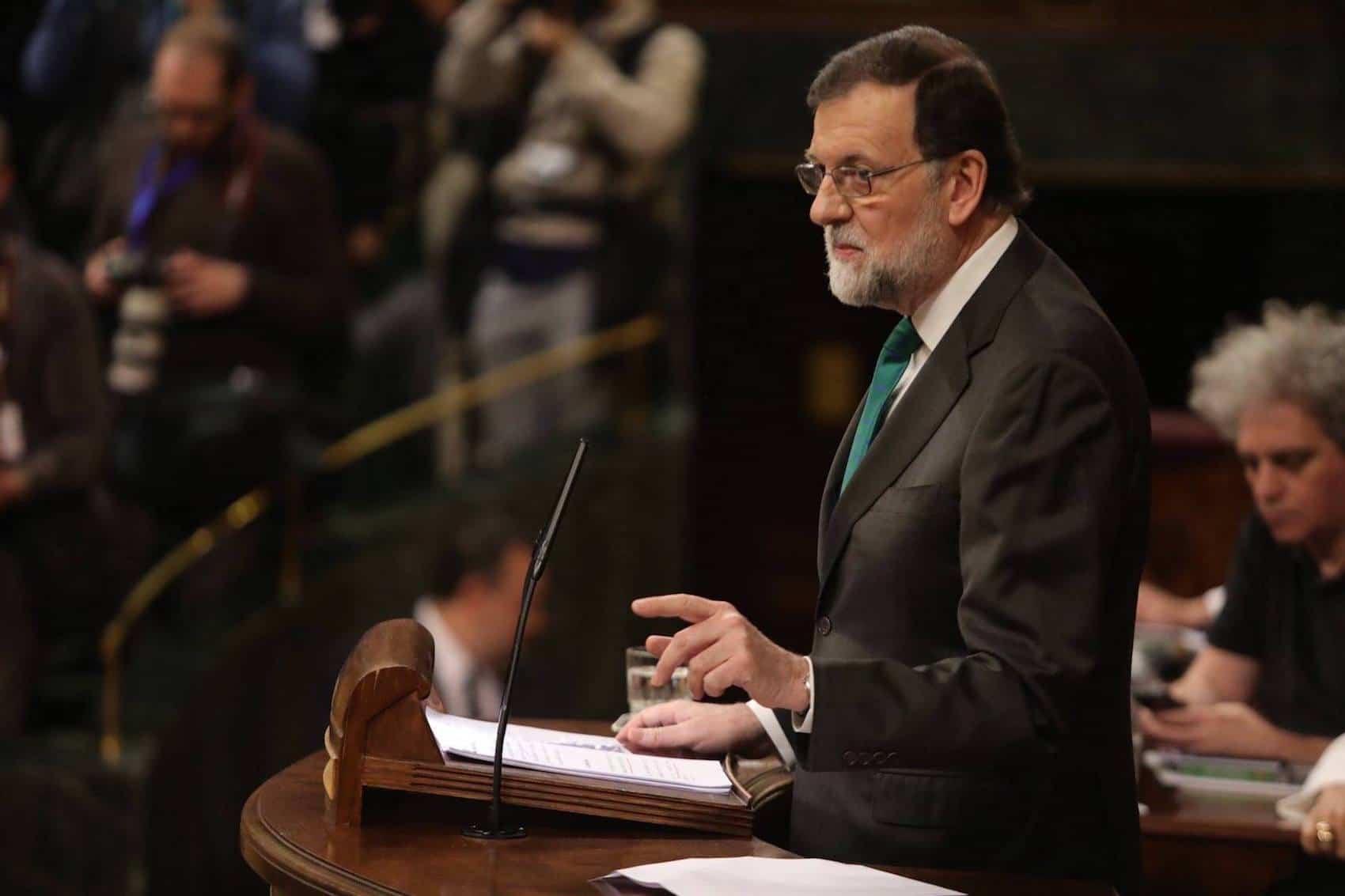 """pp mariano rajoy en congreso diputados mocion censura - """"Dimisión de Mariano Rajoy e iremos a elecciones generales"""""""