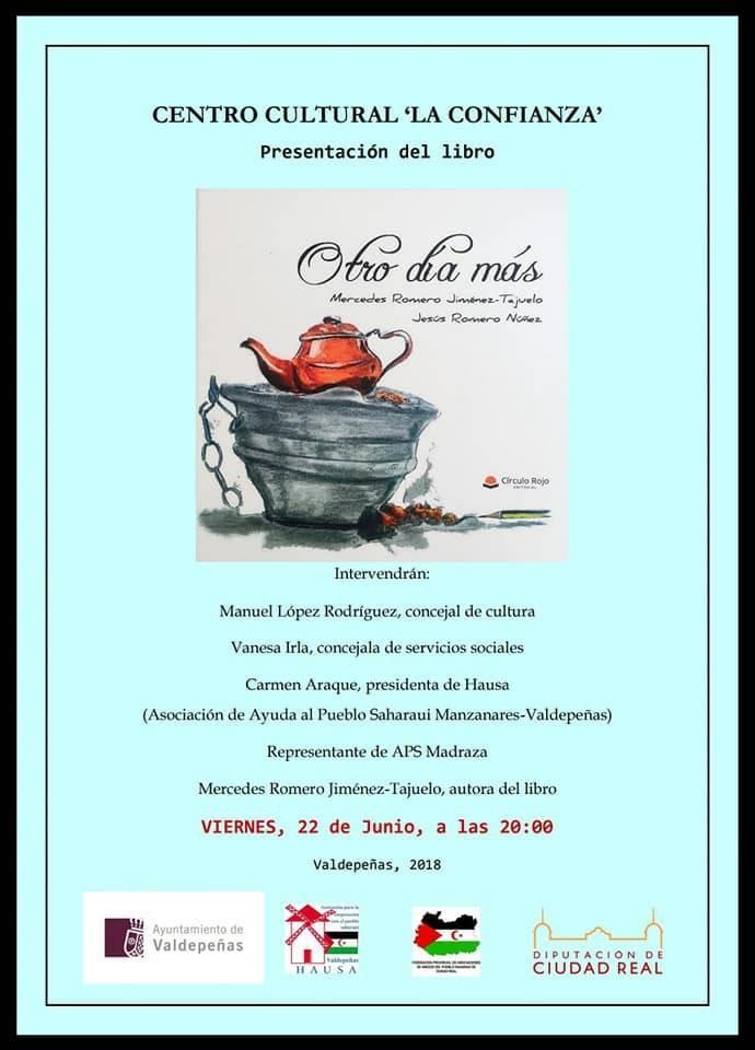 """presentacion del libro otro dia mas en Valdepeñas - Mercedes Romero presentará su libro """"Otro día más"""" en Valdepeñas"""