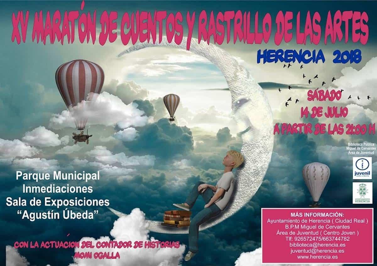 Cartel XV Maraton de Cuentos y Rastrillo de las Artes prueba12. - Cultura y talento se dan cita el próximo sábado en el Auditorio de Verano de Herencia